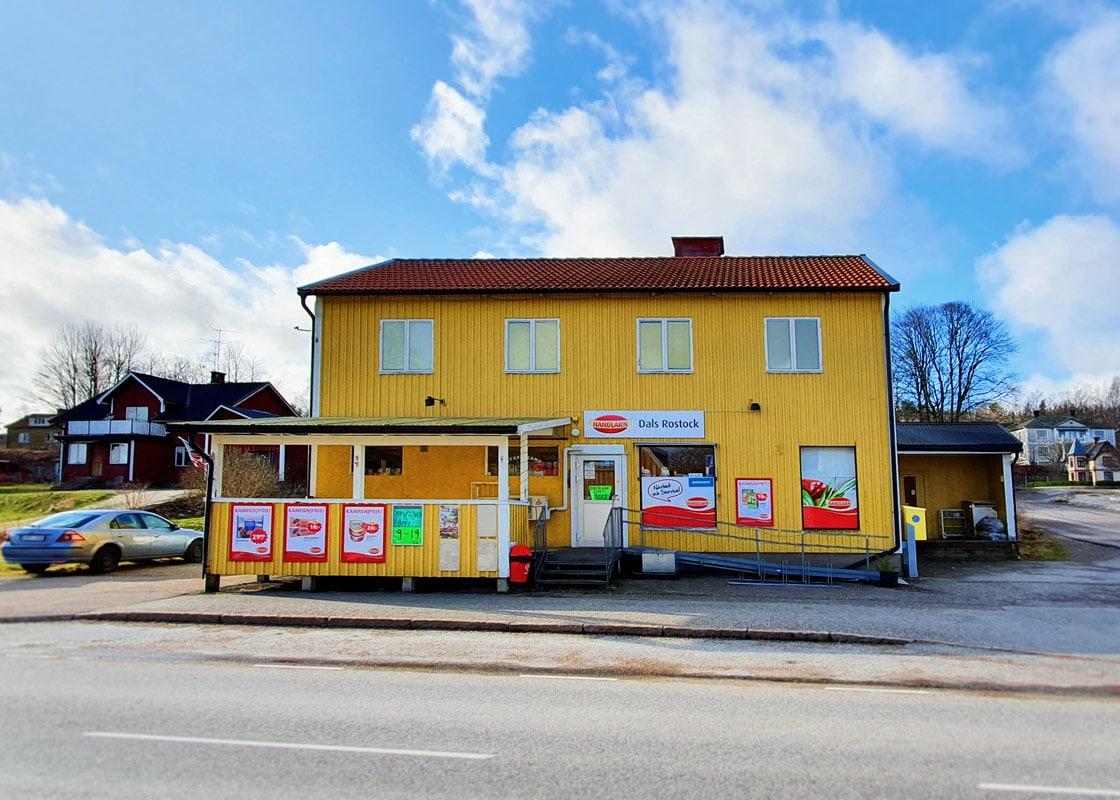 Byxfickans livs är lokalbutiken som ligger en kort promenad från Kroppefjäll Bed & Breakfast i Dals Rostock, Melleruds Kommun, Dalsland.