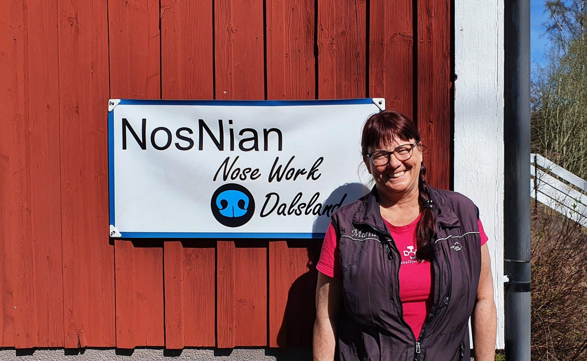 Maria Ihrén är Nosework-instruktör på Nosnian Kroppefjäll, Dals Rostock, Dalsand.